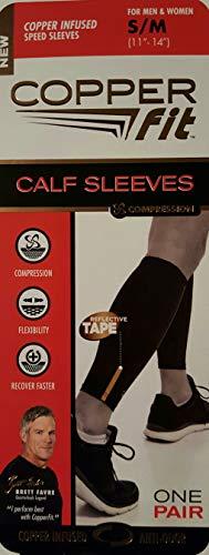 """Copper Fit Compression Calf Sleeves, Small / Medium (eleven"""" – 14″) – DiZiSports Store"""