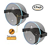 Wall Mount Stand Holder for Echo Dot, ALLICAVER Metal Made Sturdy Hanger for Amazon Echo Dot 2nd Generation (metal 2-pack)