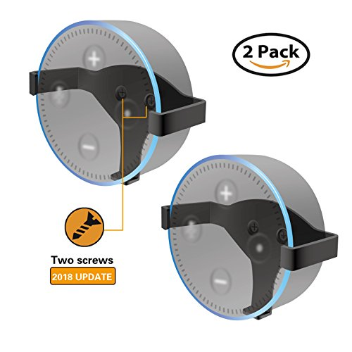 Wall Mount Stand Holder for Echo Dot, ALLICAVER Metal Made Sturdy Hanger for Amazon Echo Dot 2nd Generation (metal 2-pack) by ALLICAVER