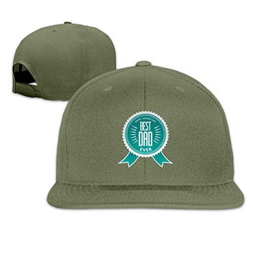 SHENGN Men Customized Best Dad Award Ribbon Rosette with Text Specially for Father's Day Designs Funny Baseball Hats Moss Green