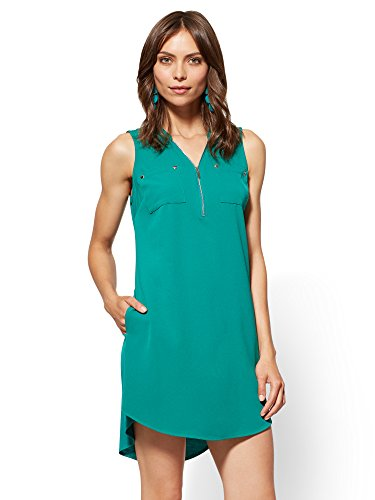 Zip Shift Dress - 1