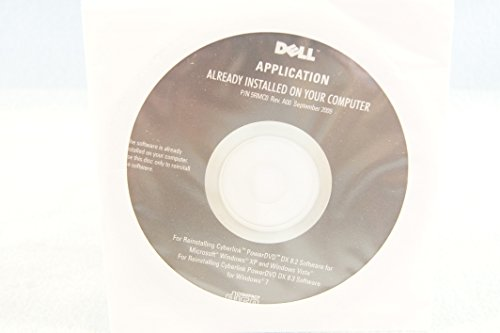 Application for Dell Driver PC Software Install Program Disc-Sealed New-Cyberlink PowerDVD DX 8.2 Windows Vista and XP and 8.3 for Windows 7-Part Number: 5RMC0 Rev. A00