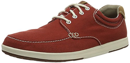 Red Derby Rouge Textile Chaussures Homme Clarks q1UpYSRxnW