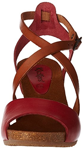 Kickers Women Fashion Sandals Red (Rouge Marron 43) KbIRVyb