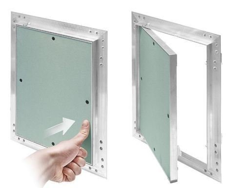 Plasterboard Access Panels Aluminium Frame Inspection Hatch Revision Secret[White, 400x400 KRAL12] Airtech