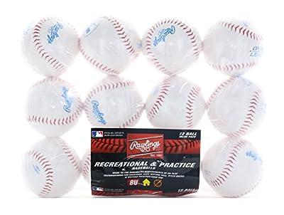 Rawlings Youth 8U Recreational and Practice Baseballs, Dozen