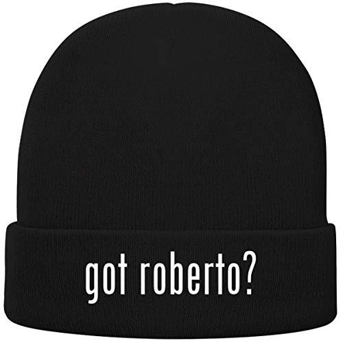 One Legging it Around got Roberto? - Soft Adult Beanie Cap, Black