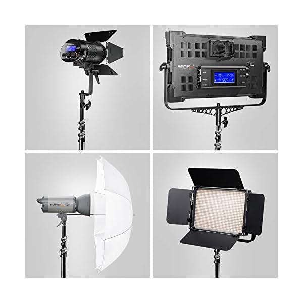 Walimex Pro Ft 8051 Lampenstativ 260cm Lichtstativ Mit Federd Mpfung H He Max 260 Cm 5 Kg Traglast Aluminium F R