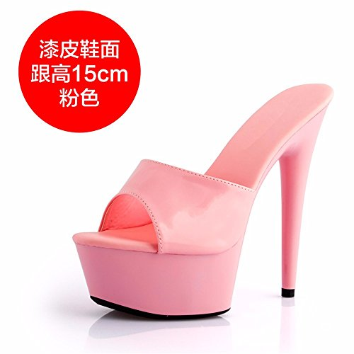 FLYRCX Sexo de verano fashion high heel Señoras fina y cool zapatillas h