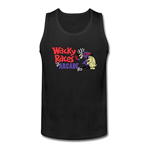 SLJD Men's Wacky Races Cartoon Design Tank Top Vest