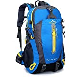 Hiking Backpack Nylon Waterproof Large Capacity Daypack for Outdoor Sports Travel Fishing Cycling Skiing Climbing Camping Mountaineering (Sky Blue-40L)