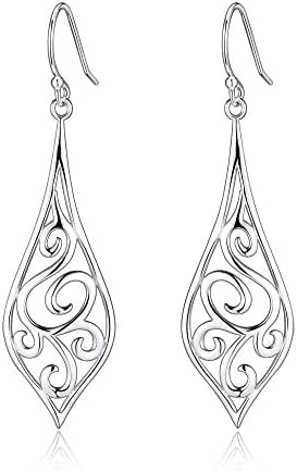 Highly Polished Sterling Silver Filigree Dangle Drop Earrings Collection