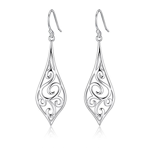 Highly Polished Sterling Filigree Earrings product image