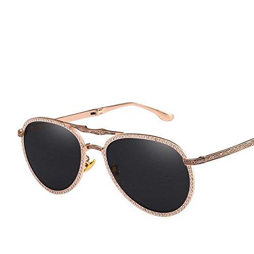 Aoligei pliable mâle et femelle diamant lunettes de soleil pilote Shing pilote universel portables lunettes de conduite XTmo8VBO4