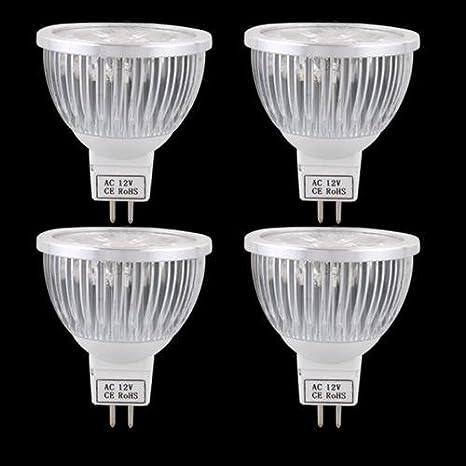 4X Bombilla Foco LED MR16 12V 4W Blanco Cálido Lámpara Luz: Amazon.es: Hogar