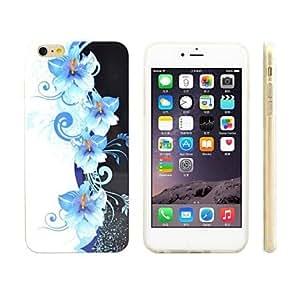 ZMY Modelo de flores caso suave TPU protector para el iphone 6 más