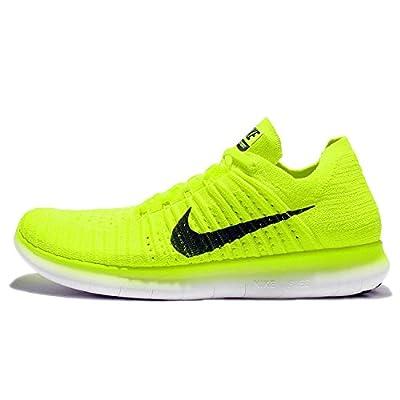 Nike Free RN Flyknit MS Mens Running Volt/Black-White
