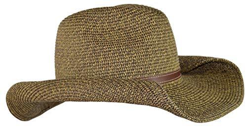 Dark Tweed Straw Cowboy Hat...