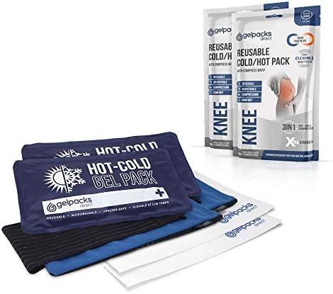 GelpacksDirect - Pack de 2 bolsas de gel para aplicar frío y calor ...