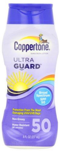 Lotion écran solaire Coppertone Ultra Guard large spectre SPF 50, 8 fl oz (237 ml)