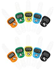 IMIKEYA 10pcs Hand Tally Counter Golf Sports Ball Digital Number Counting Recorder Lcd Electronic Finger Counter for Women Men Random Color