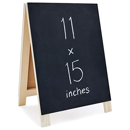Juvale Chalkboard Easel Menu Board Sign for Cafe and Wedding Parties, 11 x 15 Inches