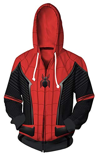 Koveinc Superhero Halloween Cosplay Costume Mens Hoodie Jacket -