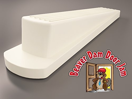 - Two Rubber Door Stoppers That Stop Any Door From Beaver Dam Door Jam - Expanded Doorstop Footprint For Maximum Grip. Minimal Wedge Design with Non-Skid, Non-Slip, Non-Scratching Rubber Base that Works on Any Surface - Even Carpet. For Office or Home.