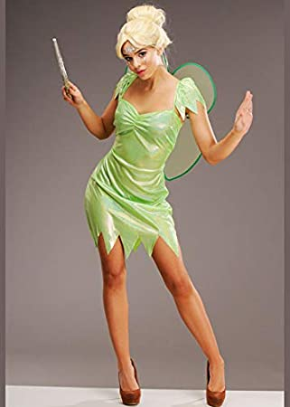Disfraz de Hada mágica Verde Estilo Tinkerbell para Mujer Medium ...