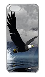 3D Eagle Polycarbonate Hard Case Cover for iPhone 5/5S ?¡ìC Transparent wangjiang maoyi