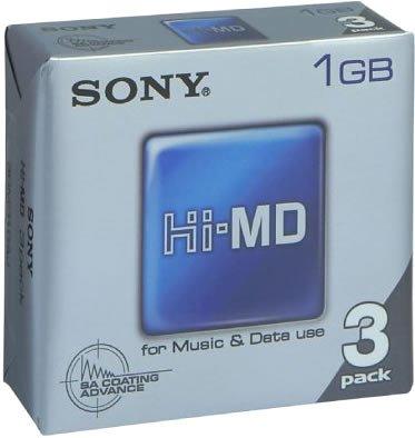 3 Sony Hi-md Mini Discs for Music & Data 1gb 3hmd1ga by Sony