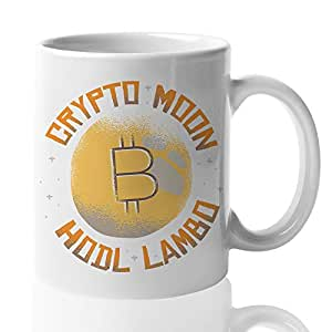 Amazon com: Bitcoin Mug 15 Oz - Crypto Moon Hoodl Lamb