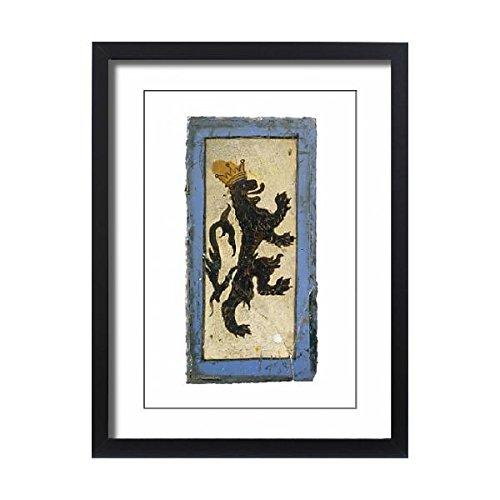 Media Storehouse Framed 24x18 Print of Portland Castle stained glass K981933 (939863) (Stained Glass Portland)