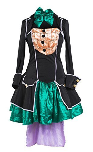 Emma's Wardrobe Mad Hatter Fancy Dress Costume by Includes Strapless Dress, Jacket, Hat and Bowtie - Beautiful Alice in Wonderland Costume for Halloween and Tea Parties - UK Size 8-16 (Strapless Emma Dress)