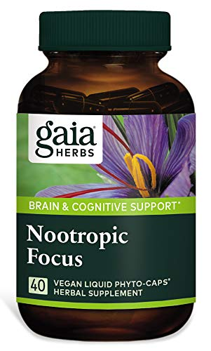 Gaia Herbs Nootropic Focus, 40Count