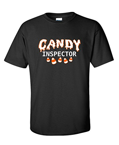 Candy Inspector Sarcastic Novelty Costume Funny Halloween T-Shirt 4XLT (Odd Halloween Candy)