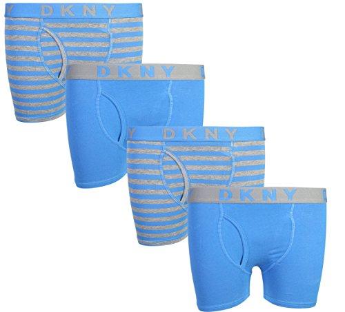 DKNY Boy\'s (4 Pack) Boxer Brief Underwear, (Large/14-16, Blue/Stripes)' ()