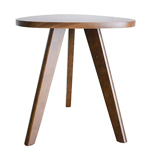 Purzest Accent Tables - Wood Side Table - Pecan, Mid-Century...