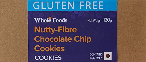 Whole Foods Gluten Free Nutty Fibre Chocolate Chips Cookies, 120g