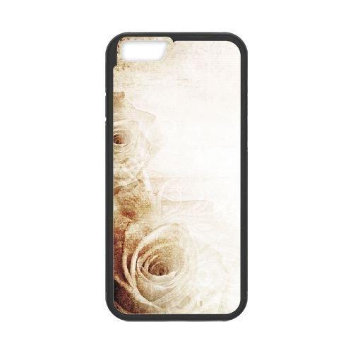 FDXGW492 iPhone 6 4.7 Inch Cell Phone Case-black_Retro Flower (17)