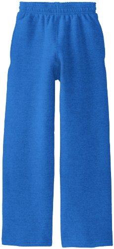 (Soffe Big Boys' Open Bottom Heavy Weight Pocket Sweatpant, Royal, Large)