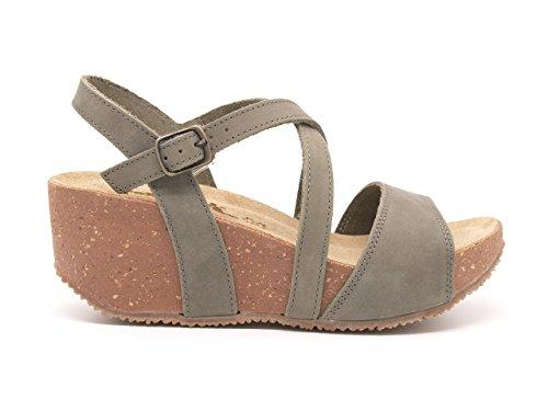 Bionatura - Sandalias de vestir de Piel para mujer beige Kaki