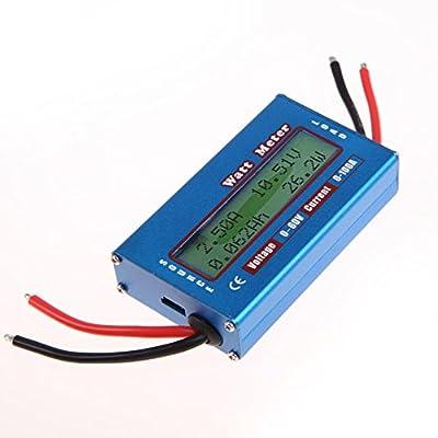 Alloet New Simple DC Power Analyser Watt Volt Amp Meter 12V 24V Solar Wind Analyzer