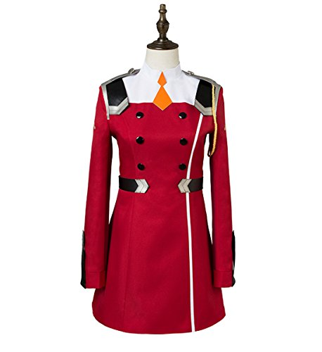 Sinastar Darling In The FRANXX Zero Two 02 Cosplay Costume Halloween Red Cosplay (Red Dress For Halloween)