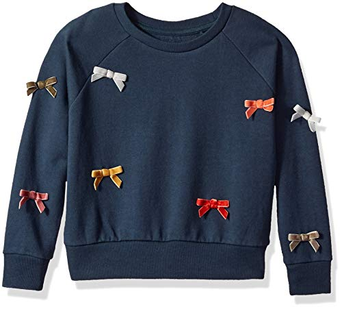 Gymboree Girls' Big Long Sleeve Pullover Sweater, Night Sky Blue, L from Gymboree