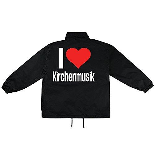i love Kirchenmusik Motiv auf Windbreaker, Jacke, Regenjacke, Übergangsjacke, stylisches Modeaccessoire für HERREN, viele Sprüche und Designs