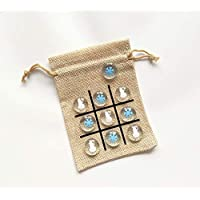 Christmas Stocking Stuffer for Kids - Winter Theme - Tic Tac Toe Game - Snowman and Snowflake