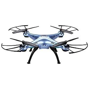 [Vendedor Oficial] Syma X5HW - RTF Drone Cuadricóptero con control remoto y cámara (Wifi, FPV, 0.3 MP, 3D eversión, 4 Canales 2.4GHz, 6 Axis Giroscopio), Azul