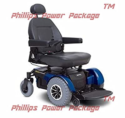 Pride Mobility - POWER PACKAGE ($500 VALUE) - Jazzy 1450 - Heavy Duty Power Chair - Jazzy Blue