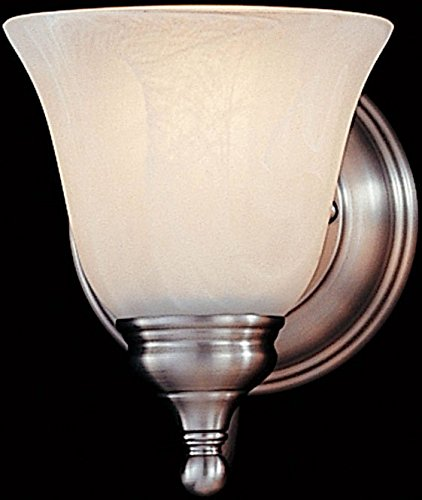 (Feiss VS6701-PW, Bristol Reversible Glass Wall Sconce Lighting, 1 Light, 100 Watts, Pewter)